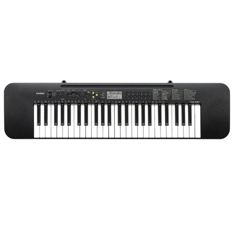 CTK-240,Casio,Standard Keyboards,Electronic Musical Instruments,Easy to Read Display,LCD,50 Song Bank Tunes,Built In