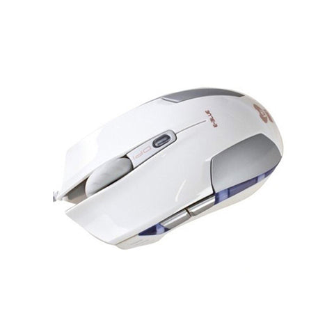 E-BLUE,Cobra-S,Compact,Optical,Gaming,USB Mouse,1600 DPI, White,Silver,EMS128WH,Computers accessories