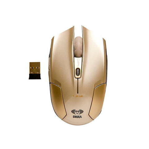 E-Blue,Cobra,Type-S,Rechargeable,2.4GHz Wireless,LED,Compact,Gaming Mouse,Gold,EMS608GOAA-IF,Computers accessories