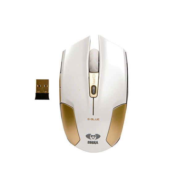 E-Blue,Cobra,Type-S,Rechargeable,2.4GHz Wireless,LED,Compact,Gaming Mouse,White,EMS608WHAA-IF,Computers accessories