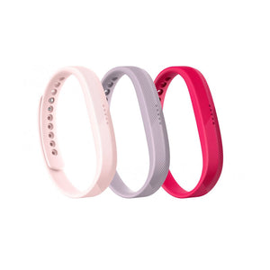 Fitbit Flex 2,Accessory,3 Pack,Pink,Large