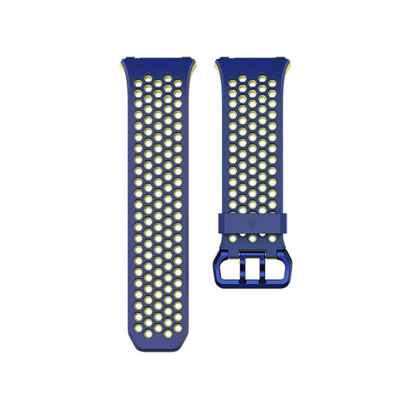 Fitbit Ionic,Accessory Sport Band,Blue,Yellow,Large