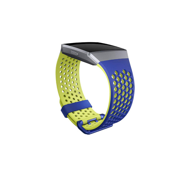 Fitbit Ionic Accessory Sport Band Blue and Yellow -Large