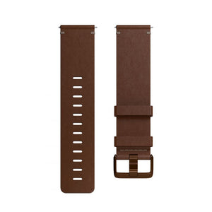 Fitbit,Versa Accessory Band,Leather,Cognac,Large,FB166LBDBL,Watch Accessories
