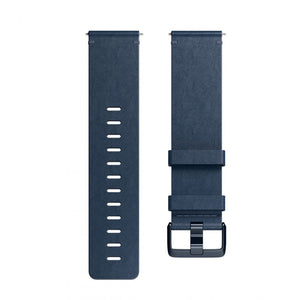 Fitbit,Versa Accessory,Leather,Midnight Blue,Large,FB166LBNVL,Watch Accessories