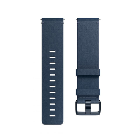 Fitbit,Versa Accessory,Leather,Midnight Blue,Small,FB166LBNVS,Watch Accessories