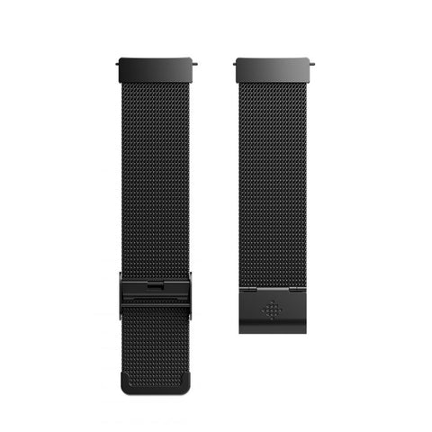 Fitbit,Versa Accessory,Stainless Steel,Standard,Band Metal,Mesh Black,Watch Accessories