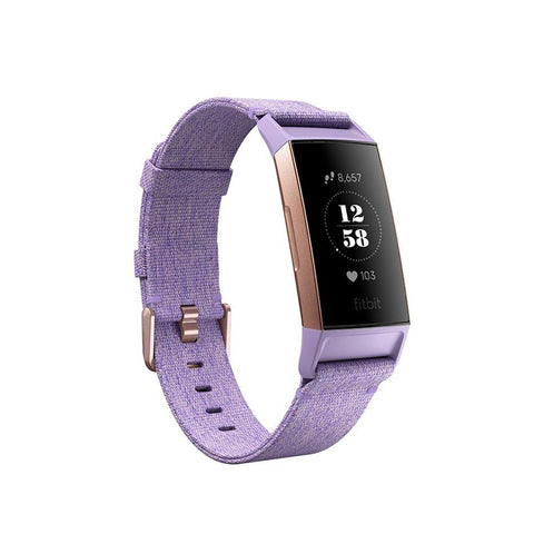 Fitbit,Charge 3,Fitness Activity Tracker,Special Edition,Lavender Woven,Fitness Wearables