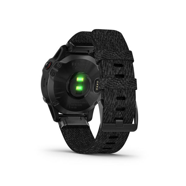 GARMIN Fenix 6 Sapphire Black DLC With Heathered Black Nylon Band