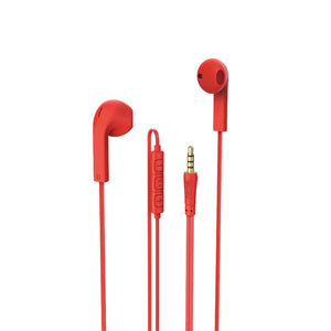Advance In-Ear Headset,red,Gold Plated,Coating,integrated microphone