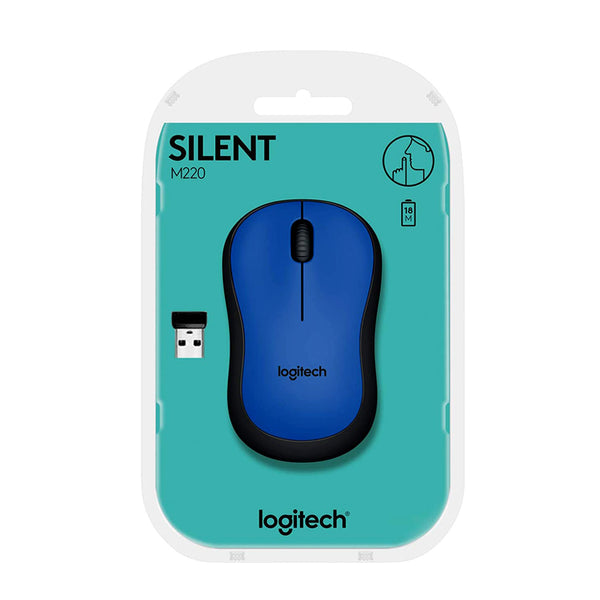 Logitech Wireless Mouse 2.4 GHz with USB Mini Receiver Blue