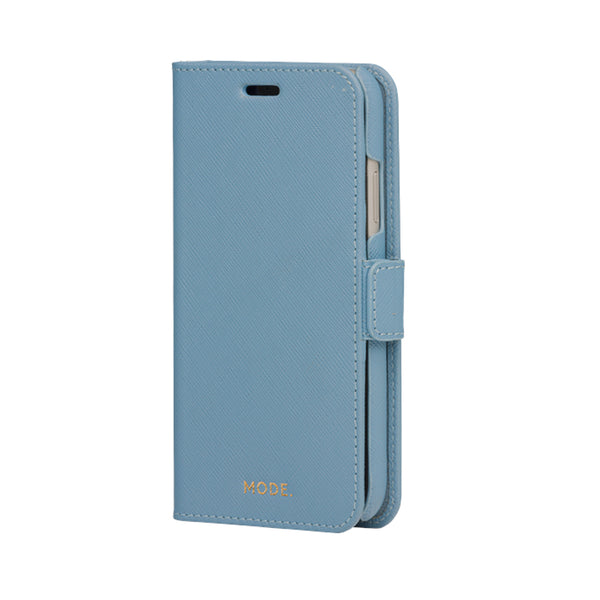 dbramante1928 New York iPhone 11 Case Nightfall Blue - Full Grain Saffiano Leather