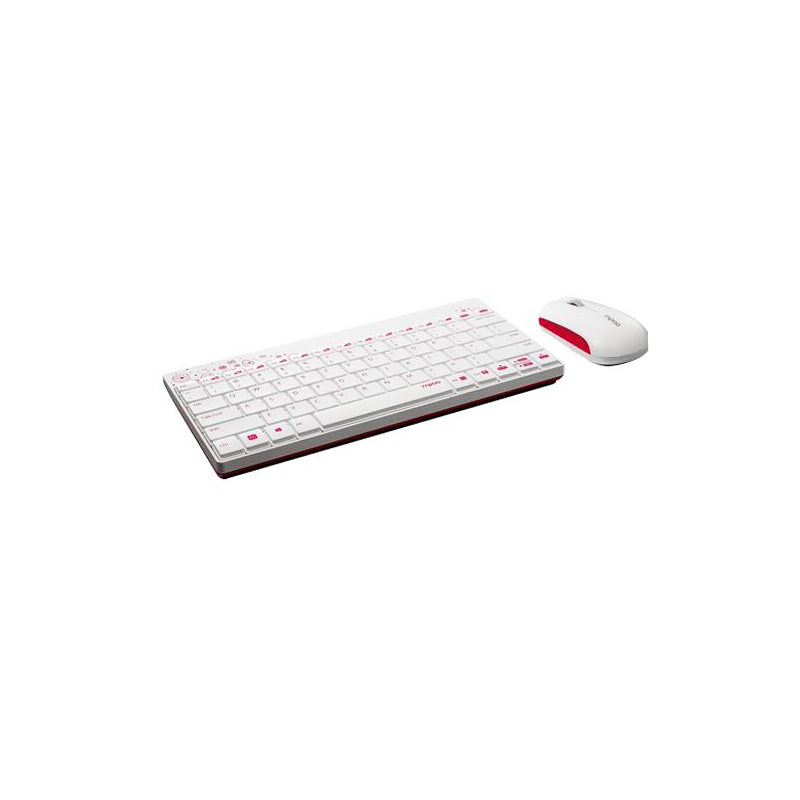8000-WH,Rapoo,8000,Wireless,Mouse,Keyboard,Combo,English Layout,White
