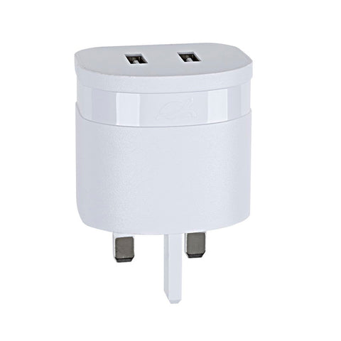 RivaCase RivaPower Wall Charger UK Plug White 3.4A/ 2USB