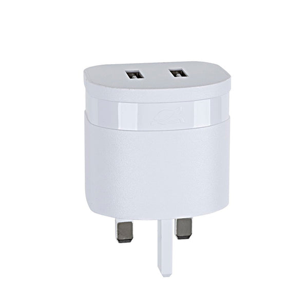 RivaCase RivaPower Wall Charger UK Plug White 3.4A/ 2USB, with Micro USB Cable