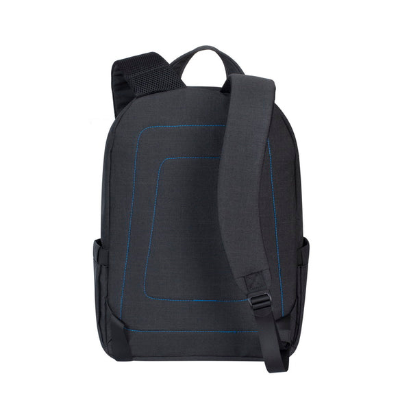 RivaCase 7560 Black Laptop Canvas Backpack 15.6""