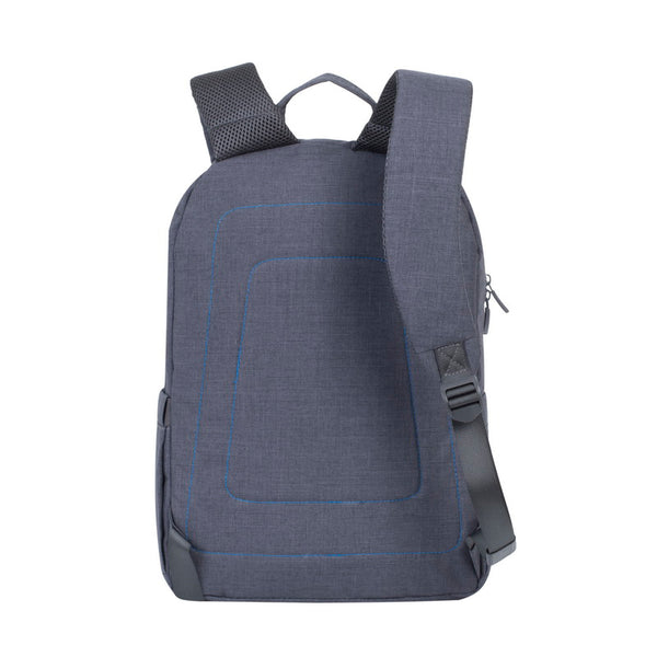 RivaCase 7560 Grey Laptop Canvas Backpack 15.6""