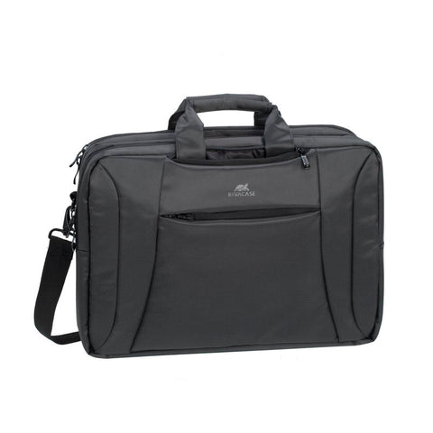 RivaCase 8290 Charcoal Black Convertible Laptop Bag/Backpack 16""