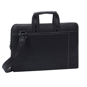 RivaCase 8930 (PU) Black Slim Laptop Bag 15.6""