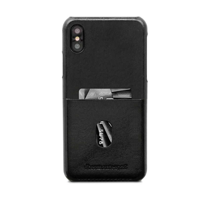 dbramante1928 Tune cc iPhone Cover X/Xs Black - Full Grain Leather