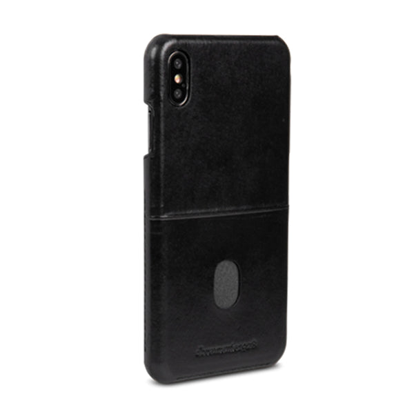 dbramante1928 Tune cc iPhone Cover Xs Max Black - Full Grain Leather