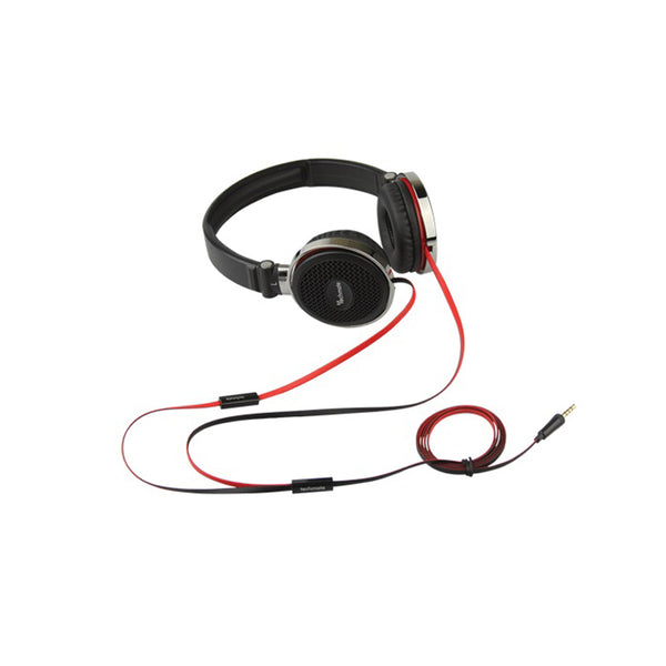 TechMate Stereo Foldable Headset With Mic Premium -Black DT-HM700BK