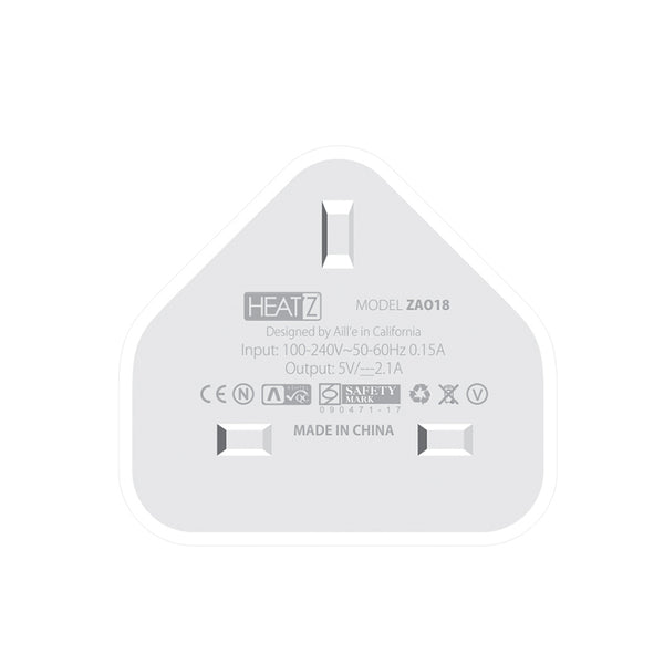 HeatZ Single USB Port Home Charger Adapter (2.1A)