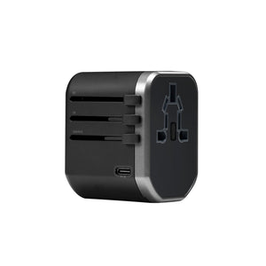 HeatZ Universal Fast Travel Adapter with Type C and USB Port Detached (3A)