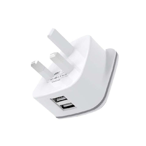 HeatZ Dual Port Fast Home Charger With TYPE C USB Cable (2.4A)