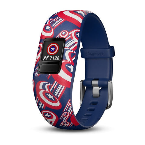 Garmin-VIVOFIT JUNIOR 2 CAPTAIN AMERICA ADJUSTABLE BAND - MAEVEL AVNTURES