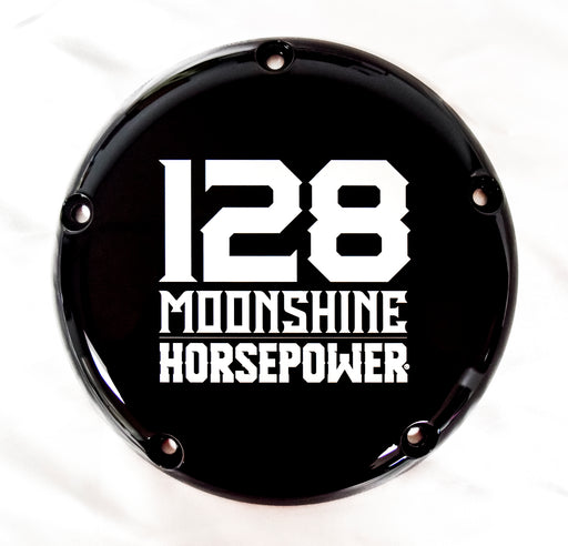 MHP-1128 M8 Derby Cover, 128 Logo, Gloss Black