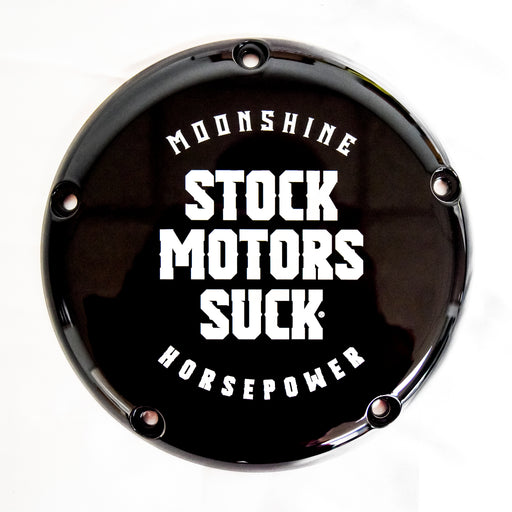 MHP-1132 M8 Derby Cover, Stock Motors Suck, Gloss Black