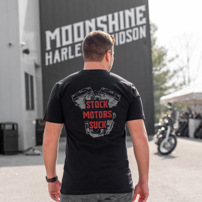 MHP Red Stock Motors Suck Men's Short Sleeve Shirt