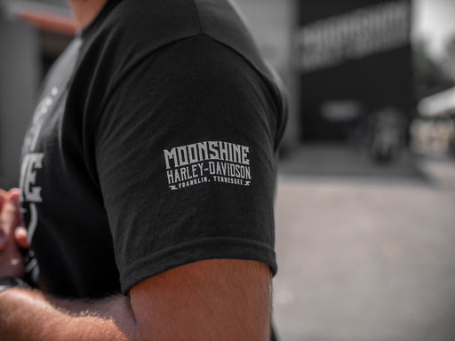 Moonshine Round Logo Men's Short Sleeve Shirt