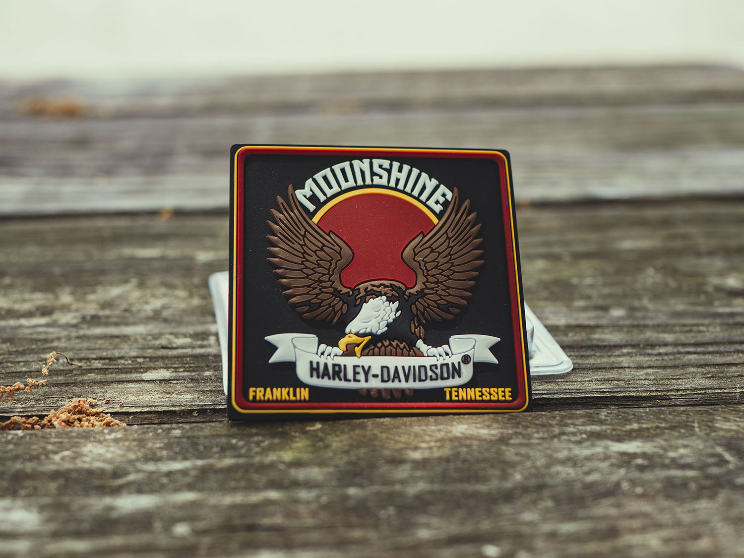 Moonshine H-D Eagle Mile Tile Magnet