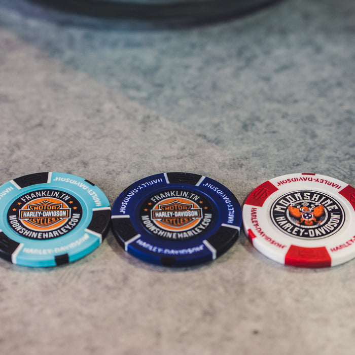 Moonshine H-D Poker Chip