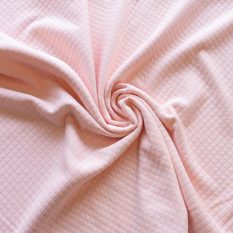 Quilted jersey - roze