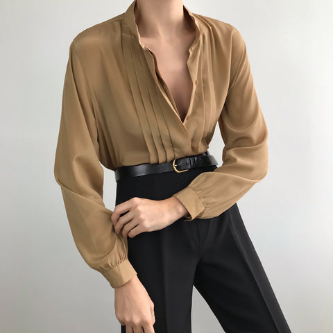 Vintage Pleat Blouse
