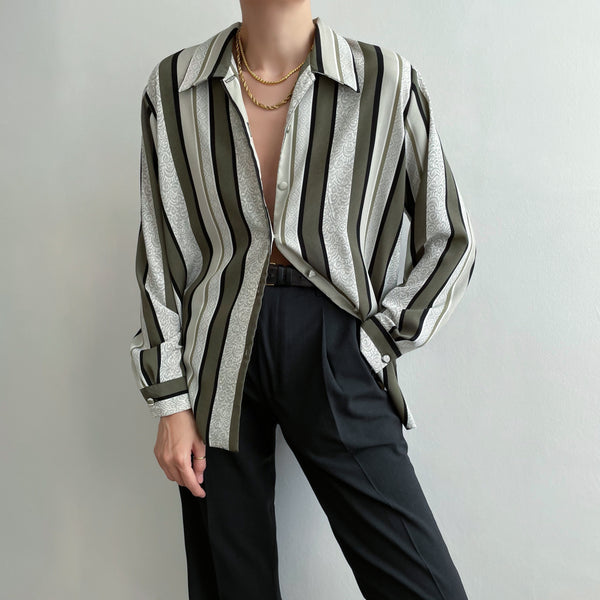 Vintage Striped Blouse