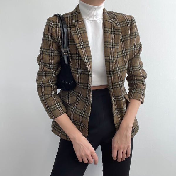 Vintage Plaid Blazer