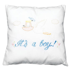 It's A Boy! Embroidered Mini Pillow 1046B