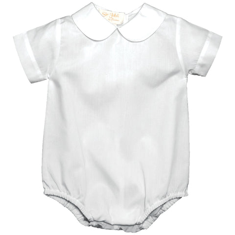 Boy White Short Sleeve Bubble AYR 2268 BY