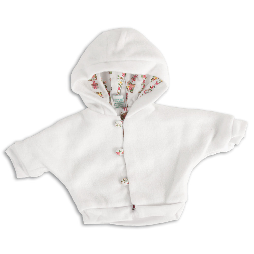 "White Hooded Fleece Jacket 18"" 255-DD"