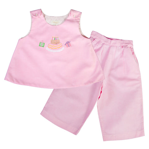 Birthday Pink Blouse & Pants Set 07SP 2565 A