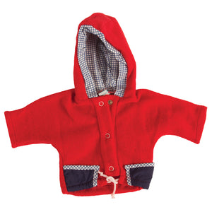 "Red Hooded Doll Jacket 18"" 271-NA"
