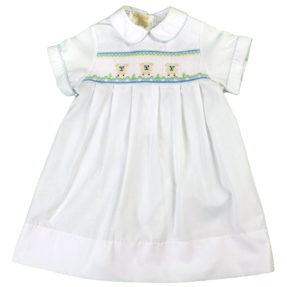 Baby Lamb Smocked White Daygown 08SS 2736 BDG