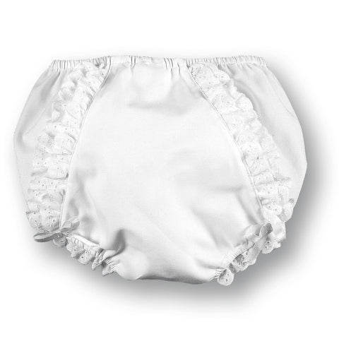 White Diaper Cover with Ruffles & Ribbons AYR 3048 A