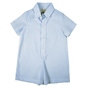 Blue Gingham Shortall AYR 3076 SA BL