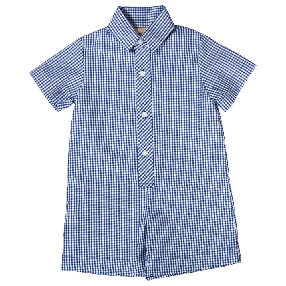 Royal Blue Gingham Shortall AYR 3076 SA RB