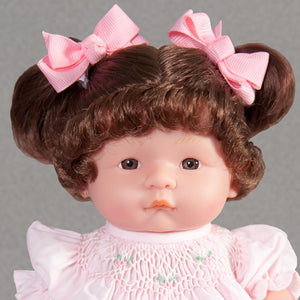"Mary Brunette & Brown Eyes 10"" Doll Predressed 35000BRBR_3976DD"